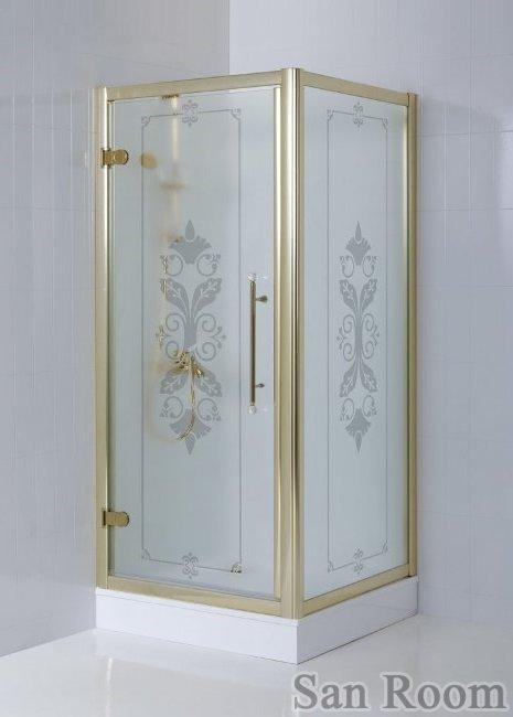 Душевой уголок Cezares Giubileo-A-2-100 стекло с узором, хром купить смеситель для ванны под бронзу